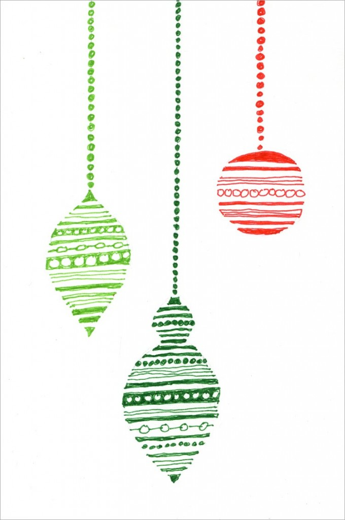 680x1024 Holiday Ornament Card Christmas Ornament, Outlines And Markers