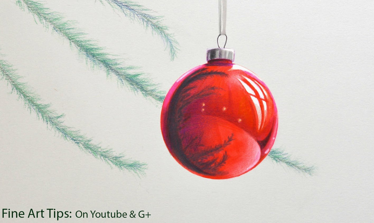 1416x846 How To Draw A Christmas Sphere