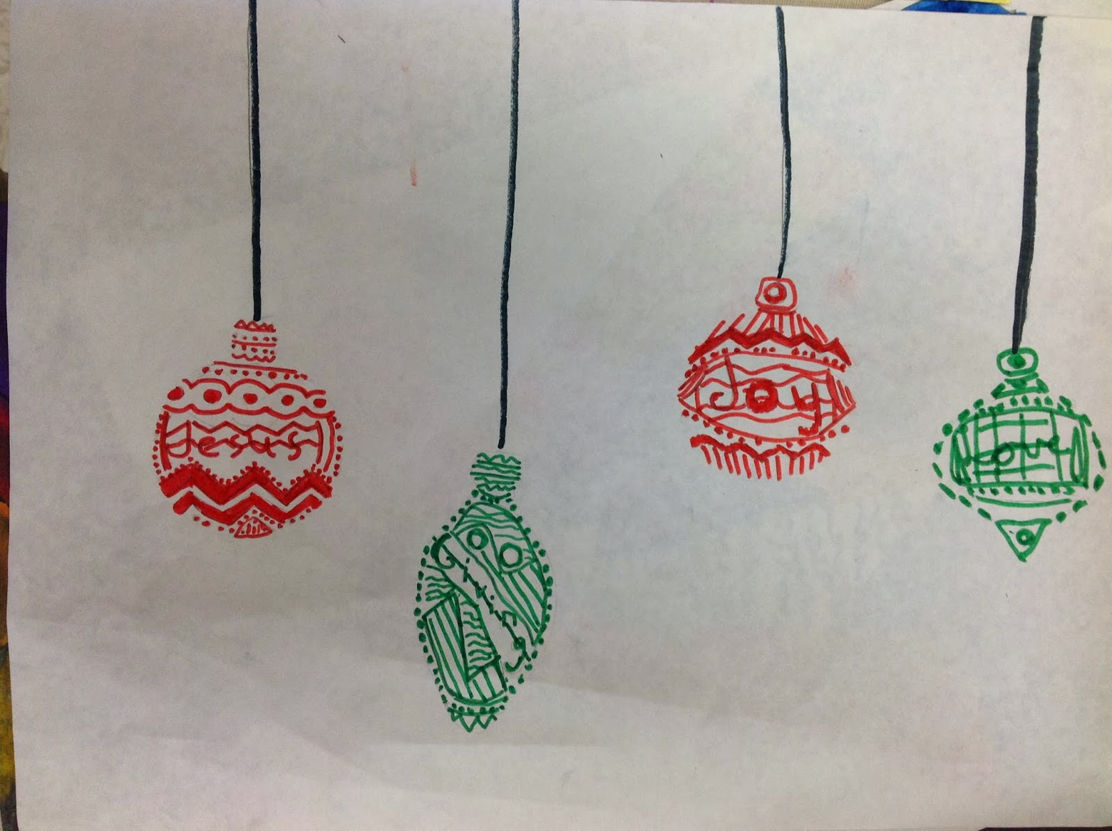 1600x1195 Miss Arty Pants Christmas Ornament Drawing