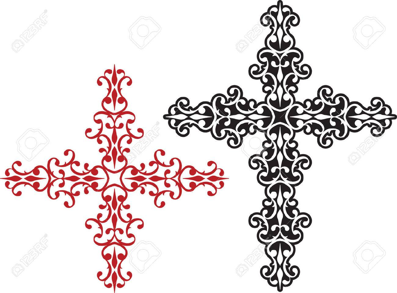 1300x959 6,200 Cross Tattoo Cliparts, Stock Vector And Royalty Free Cross