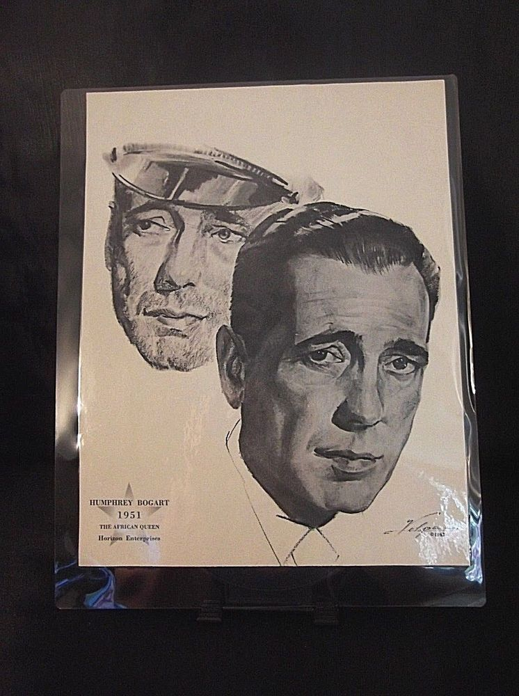 746x1000 Humphrey Bogart The African Queen Oscar Award Drawing By Nicholas