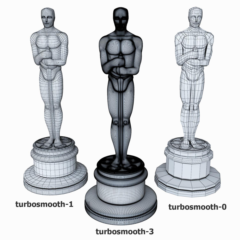 1500x1500 3d Model Oscar Statuette Cgtrader
