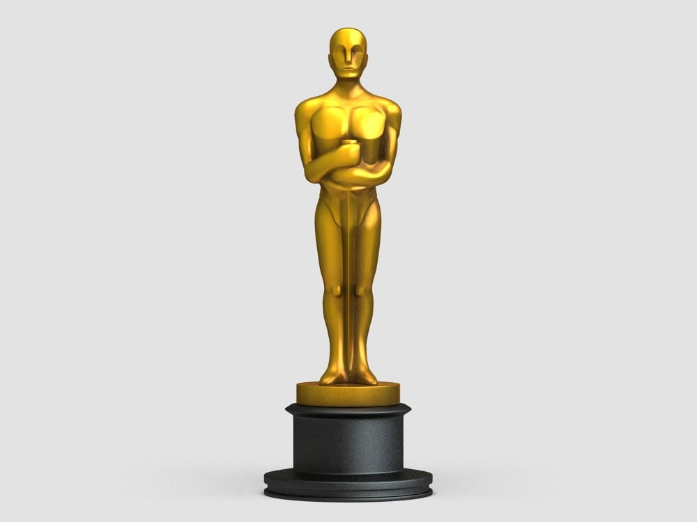1000x750 Oscar Award Statue 3d Model In Awards 3dexport
