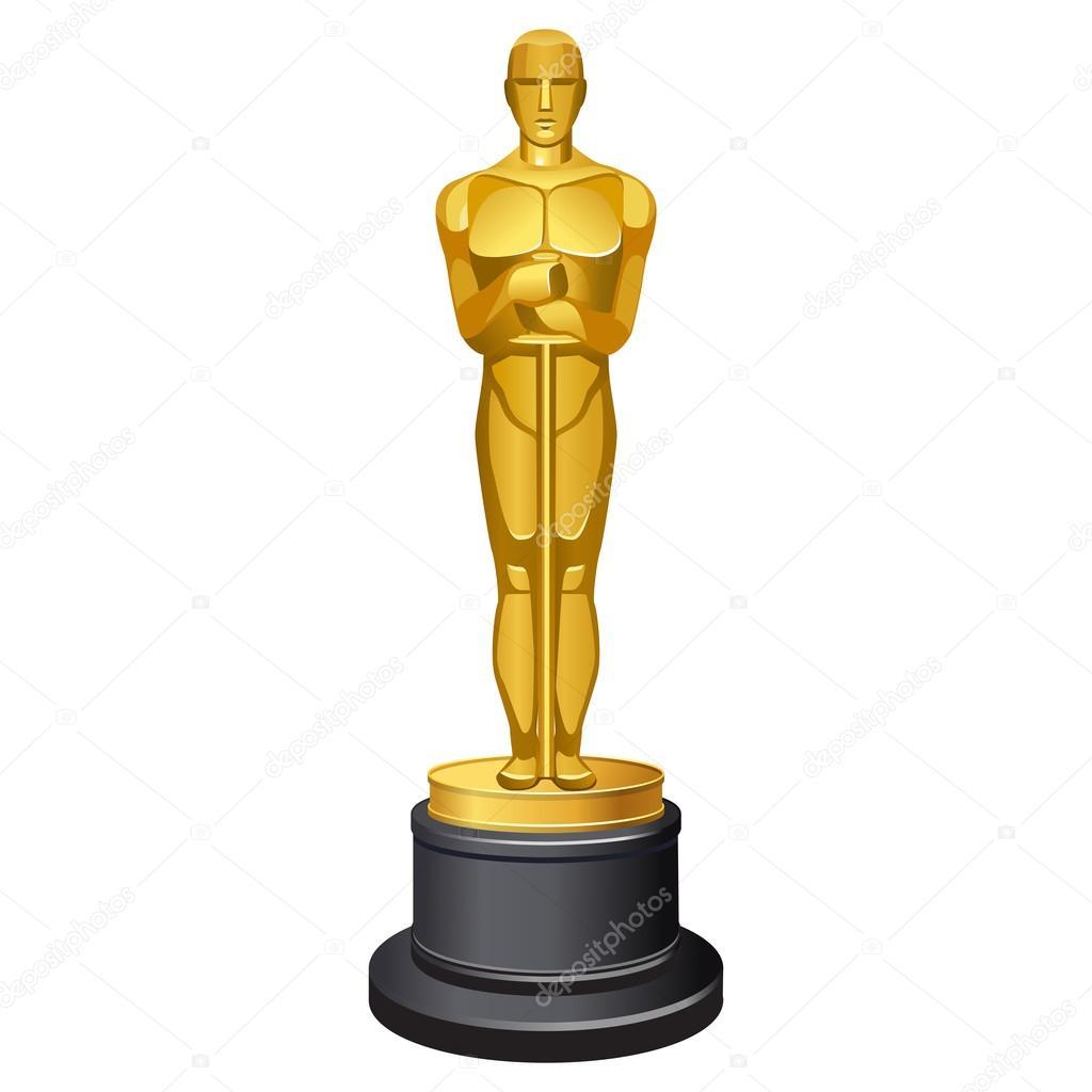 1024x1024 Famous Oscar Statue Stock Vector Sonia Eps