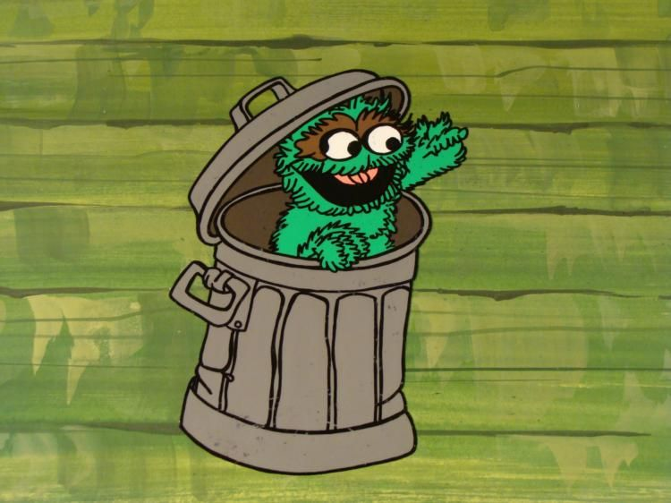 750x562 Orig Background Oscar The Grouch Cel Animation Smile