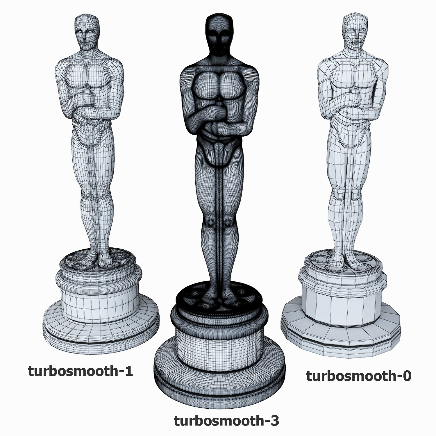 1500x1500 Oscar Statuette 3d Model In Coins And Badges 3dexport