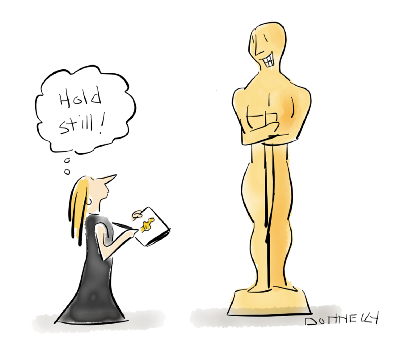 400x355 Live Drawing The 2017 Oscars On Location! Liza Donnelly New