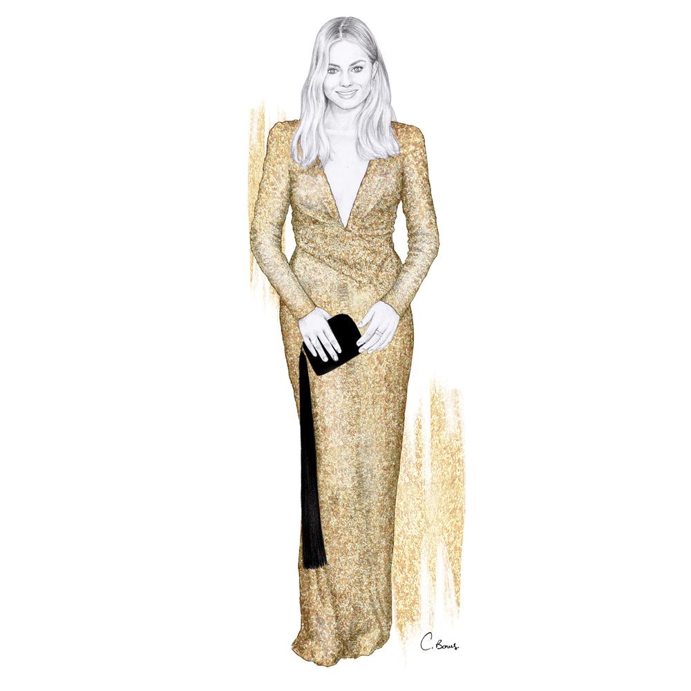 1000x1000 Oscars 2016, Margot Robbie In Tom Ford Chelsea Bonus