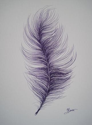 322x438 Original Purple Ostrich Feather Drawing Google Images, Google