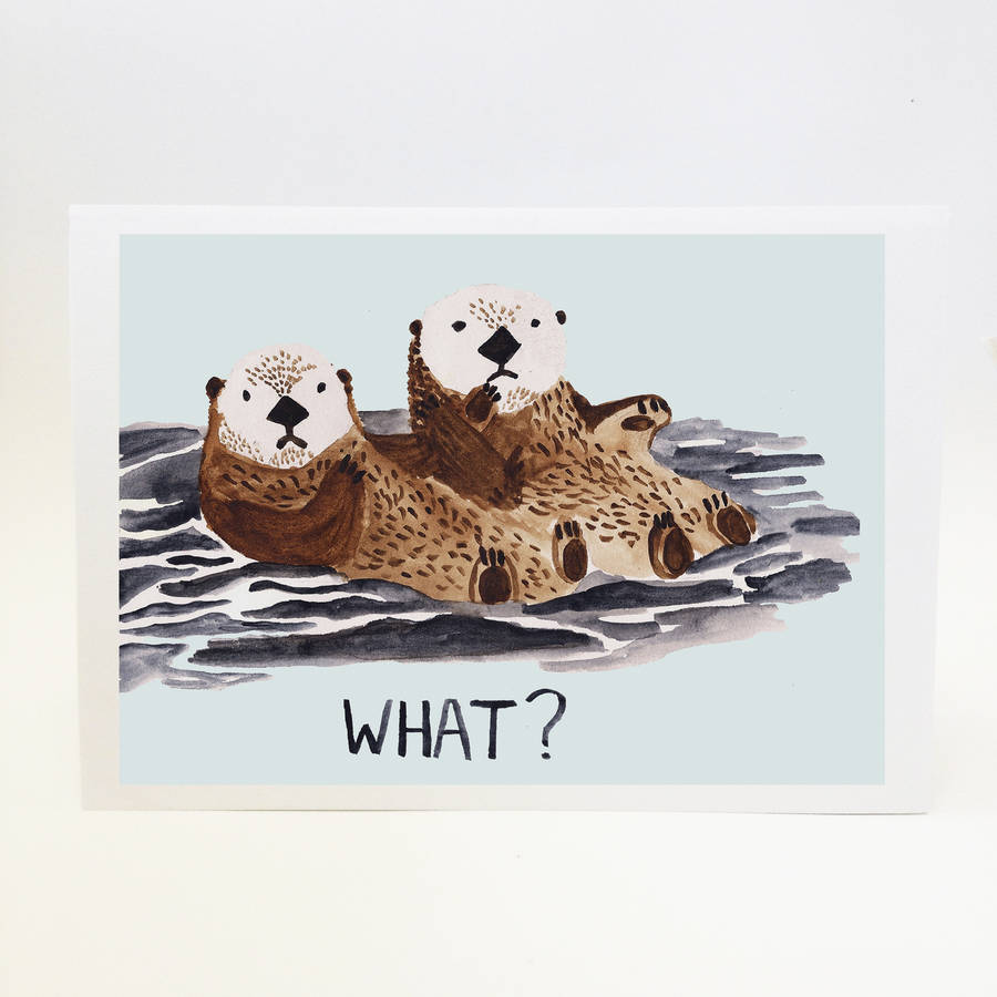 900x900 What' Otter Holding Hands Art Print Pictures