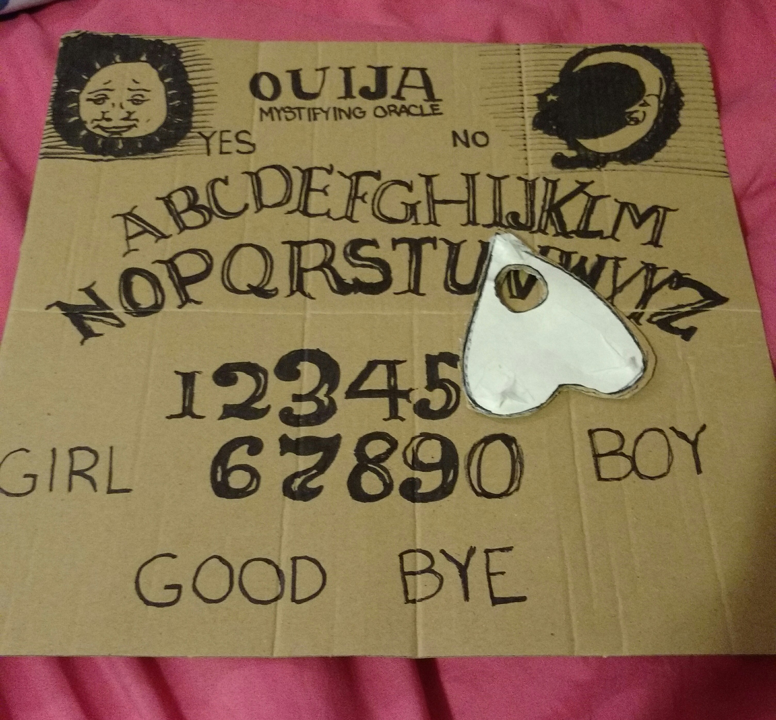 It's just a picture of Crafty Ouija Board Drawing