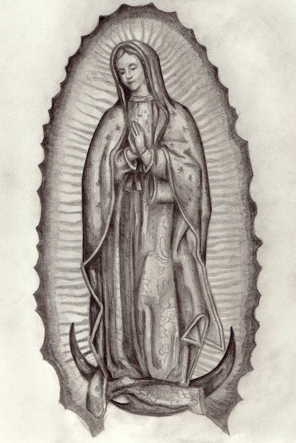 600x897 Lady Of Guadalupe By Mandrew