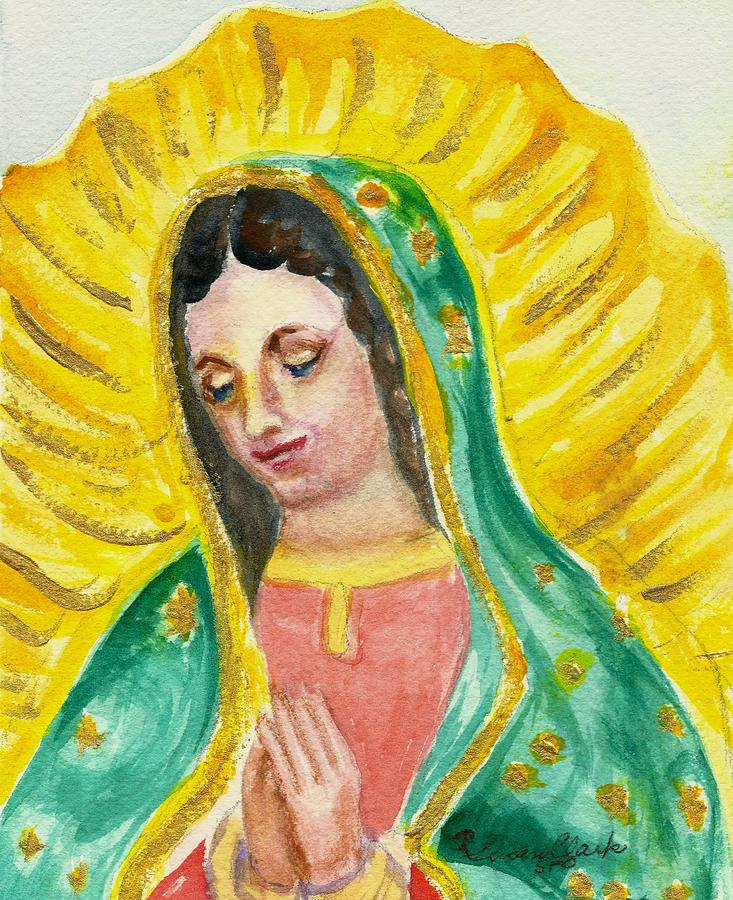 733x900 Our Lady Of Guadalupe Painting By Susan Lee Clark