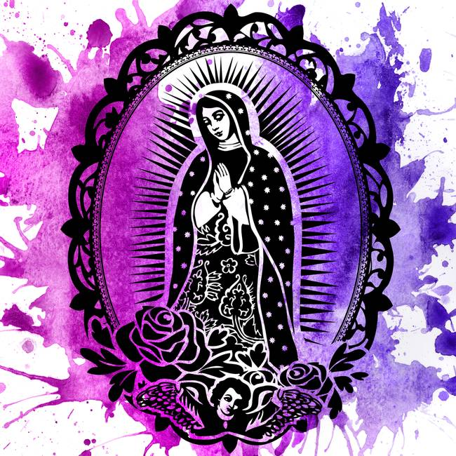 650x650 Our Lady Of Guadalupe By Angel D'Amico