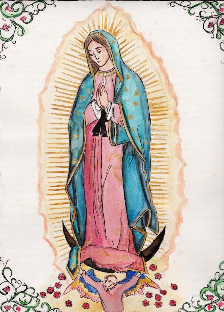 758x1054 Our Lady Of Guadalupe By Aodhagain
