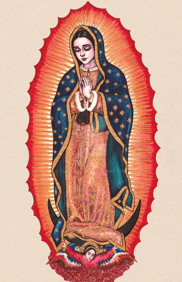 719x1112 Our Lady Of Guadalupe By Theophilia