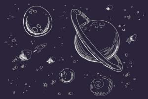 300x200 How To Draw Space