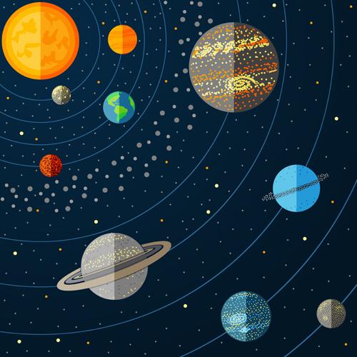 500x500 Outer Space Cartoon Background Vector 01 .um Ano De Amor