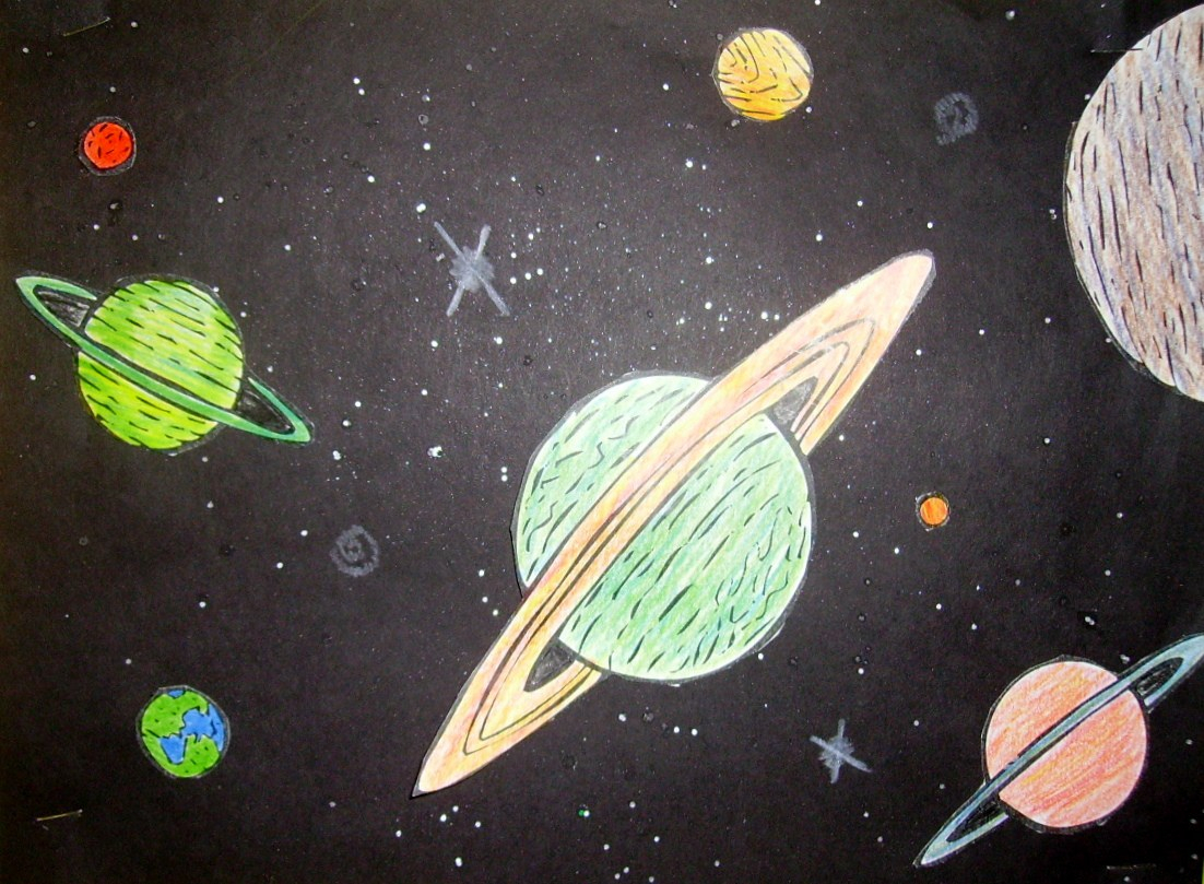 1102x809 Space Drawing For Kids Outer Space Kids Glitter