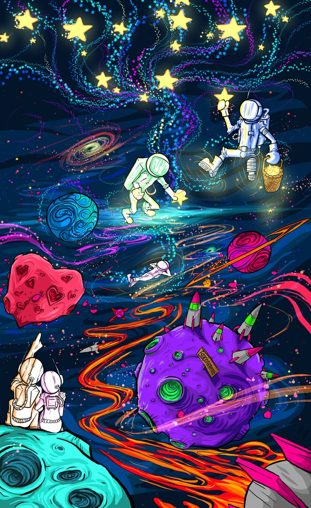 This is a picture of Exceptional Tumblr Space Drawing
