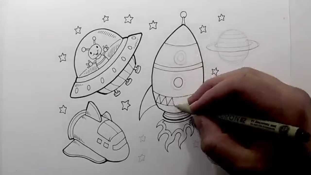 1280x720 Cute Outer Space Doodle Drawing Time Lapse