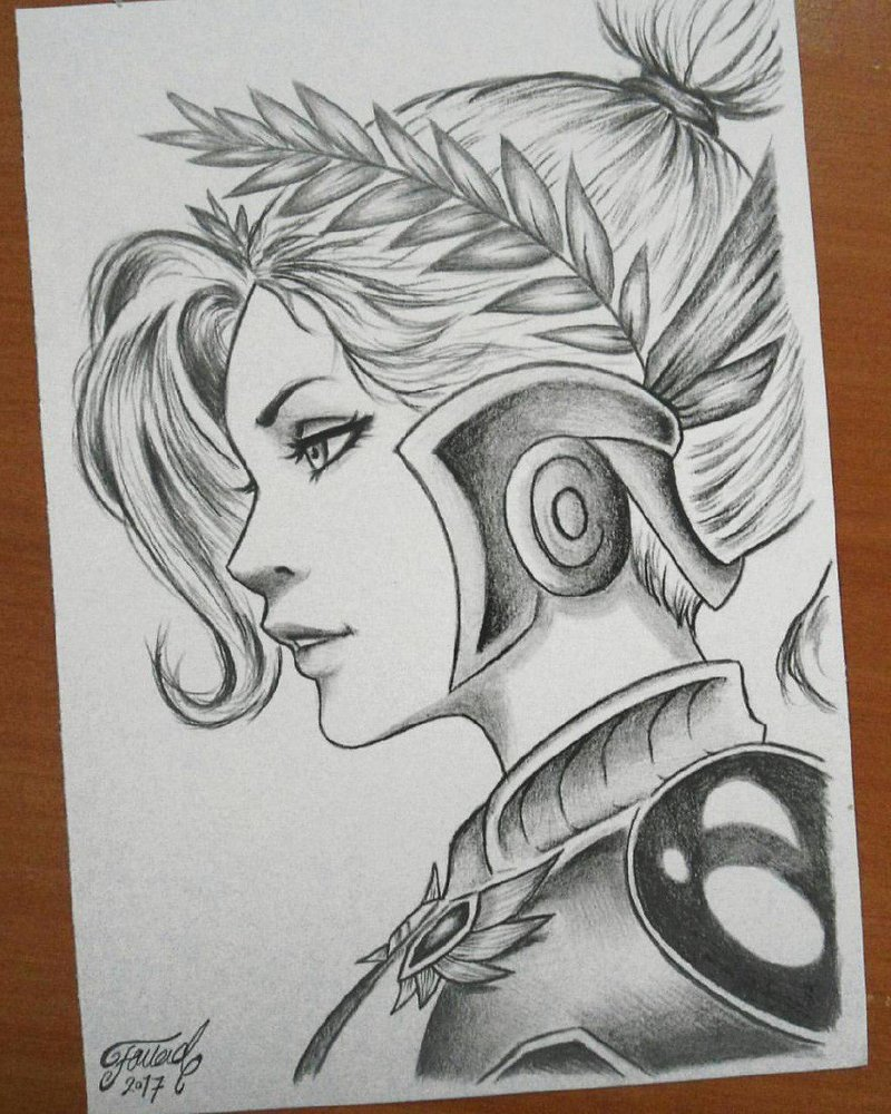 800x1000 Overwatch Victory Mercy Drawing By Fouadzahiri