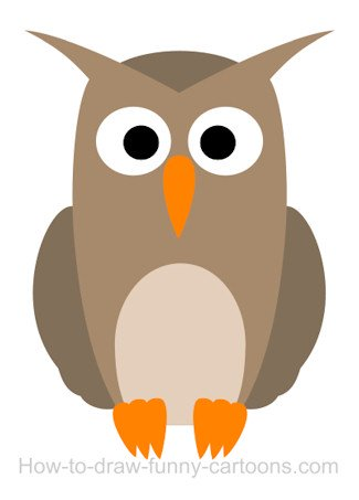 325x453 Drawing An Owl Cartoon