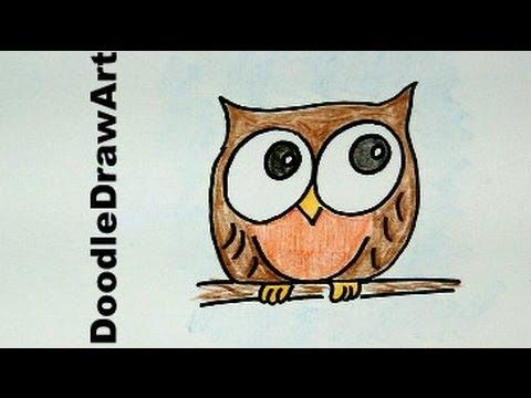 480x360 How To Draw A Baby Owl Cartoon