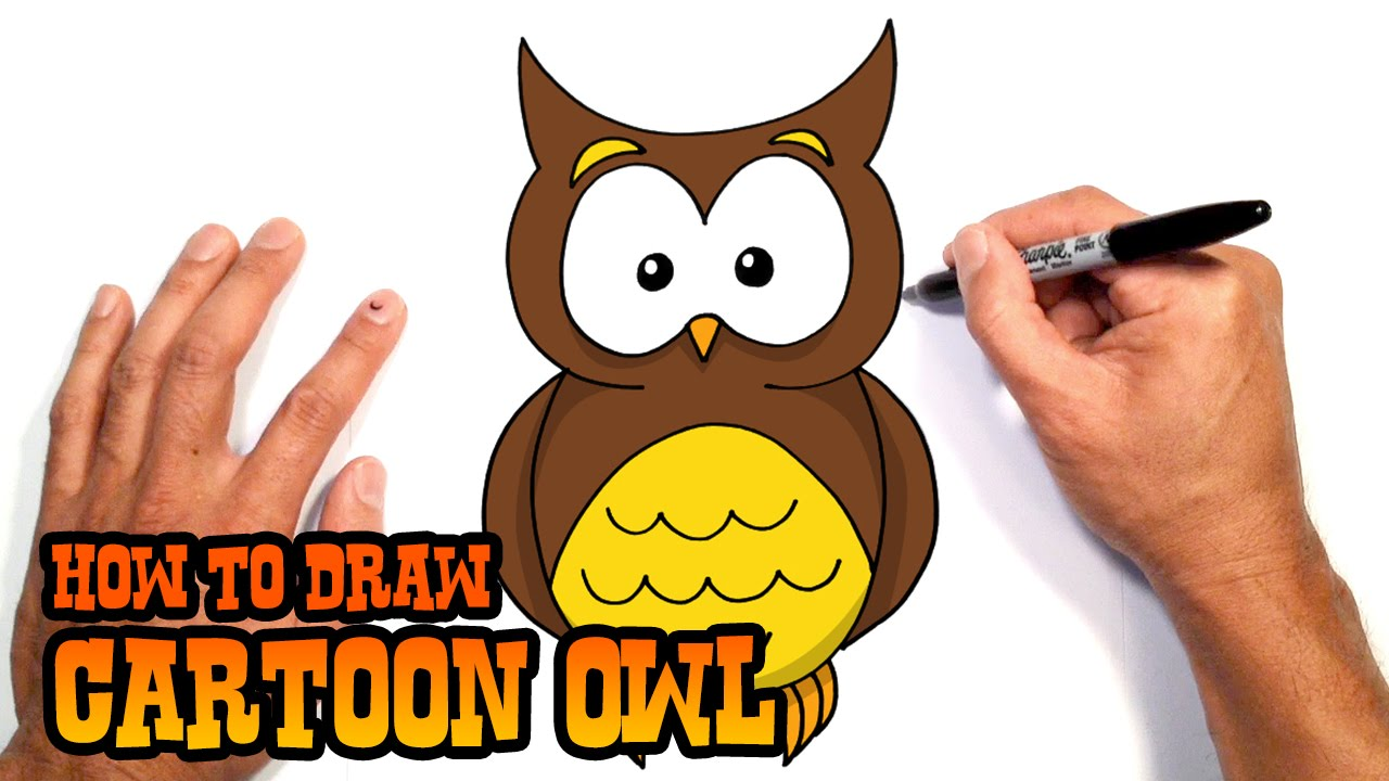 1280x720 How To Draw Cartoon Owl Drawing Lesson