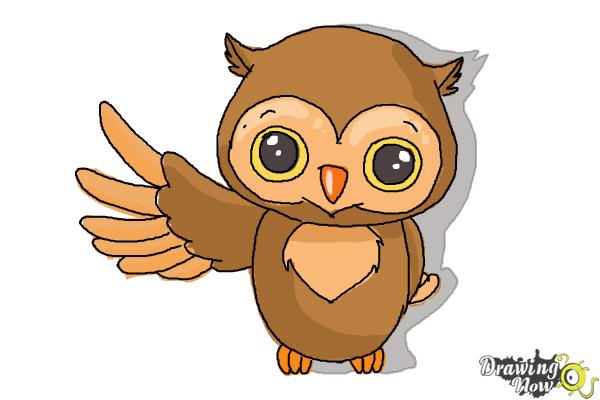 600x400 How To Draw A Cute Owl
