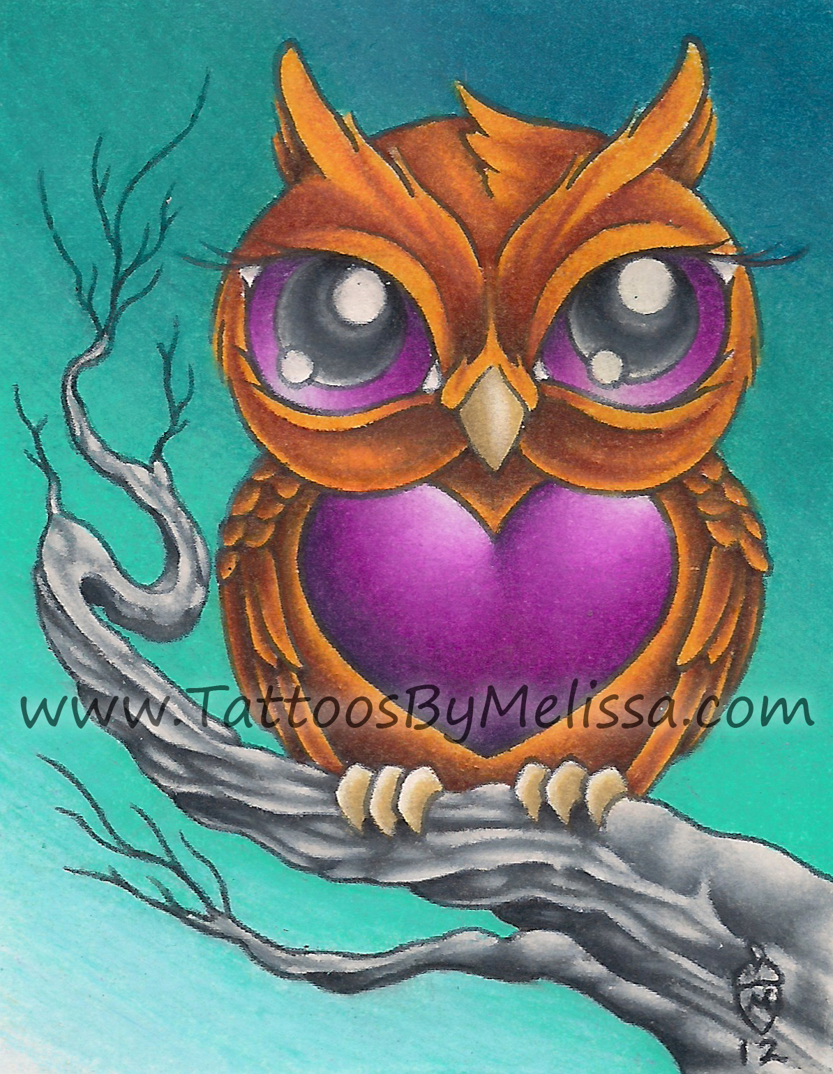 1194x1539 Cute Owl 2.5x3 Colored Pencils On Bristol Paper Artistmelissa