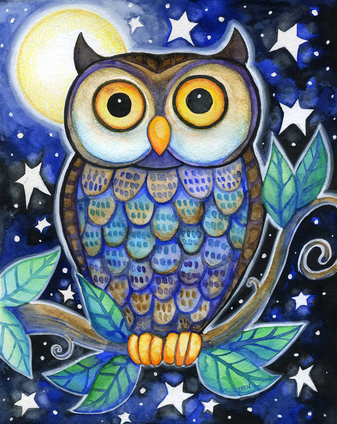 1163x1463 Pictures Owl Drawings With Color,
