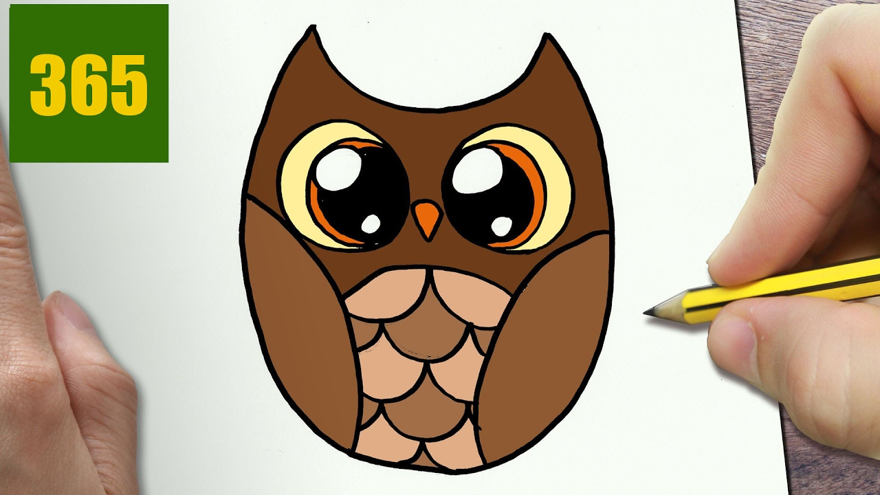1280x720 How To Draw A Owl Cute, Easy Step By Step Drawing Lessons For Kids