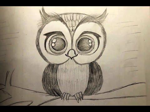 480x360 Diy How To Draw Cute Owl