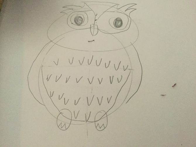 670x503 How To Draw An Owl (With Pictures)