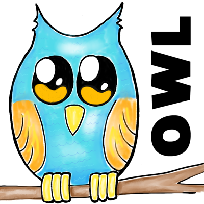 400x400 how to draw owl on branch easy drawing tutorial for kids how to - Owl Pictures For Kids