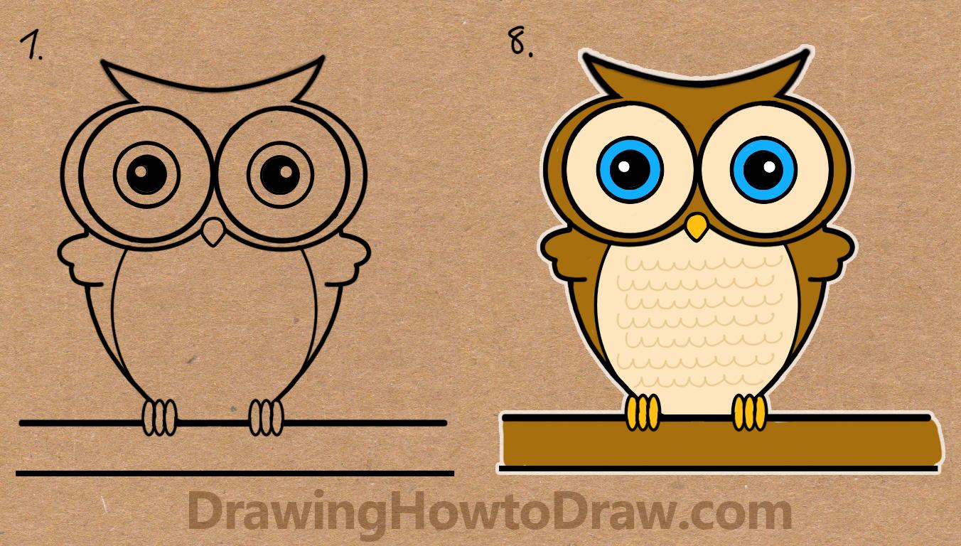 Owl Drawing Cartoon at GetDrawings | Free download