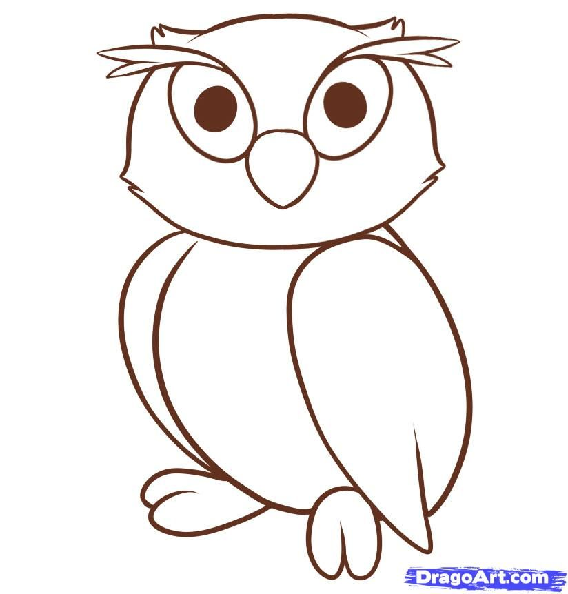 824x862 Use The Form Below To Delete This How To Draw An Owl For Kids Step