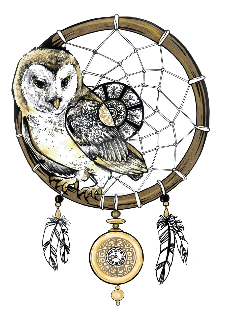 900x1243 Owl Dream Catcher By Lovefromsam