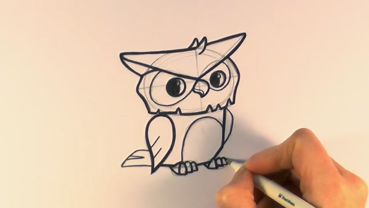 1280x720 Cartoon Owl Drawing How To Draw A Cartoon Owl From Animal Jam