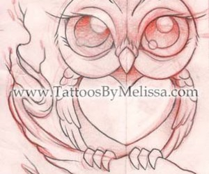 300x250 Loveit Cute Big Eyed Owl Sketch Drawing Artist Melissa Capo
