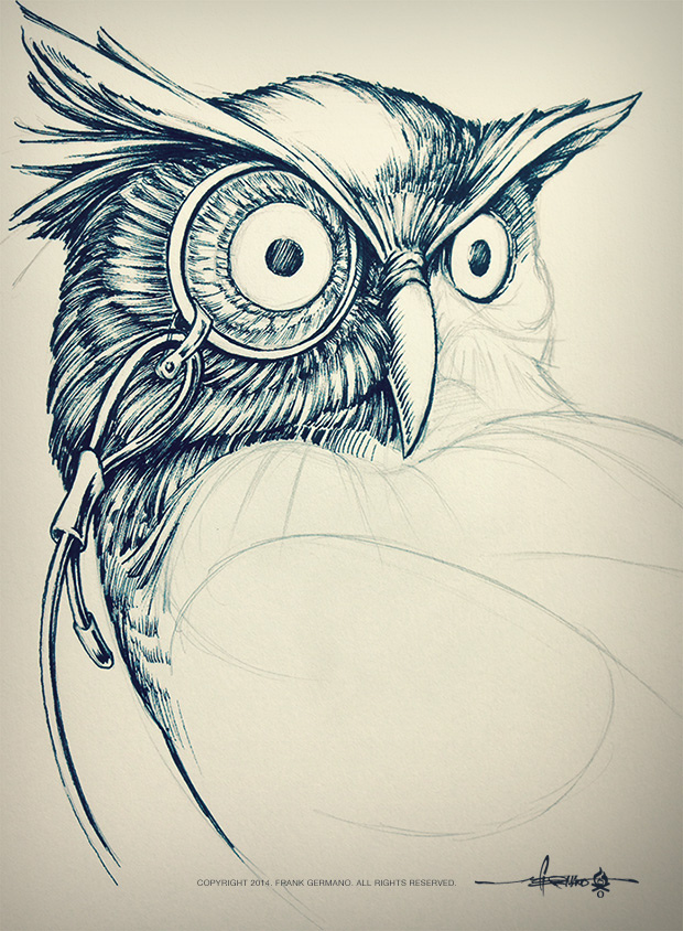 620x844 Owl Sketch Just A Little Fun From The Sketchbook. Working