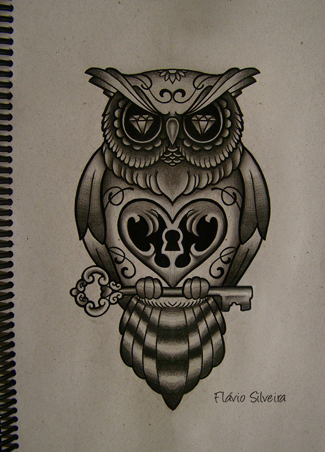 Owl Tattoo Drawing at GetDrawings.com   Free for personal use Owl ...
