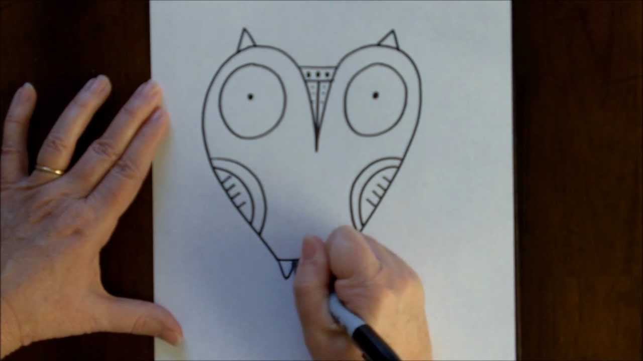1280x720 How To Draw An Owl Step By Step Drawing Tutorial For Beginners