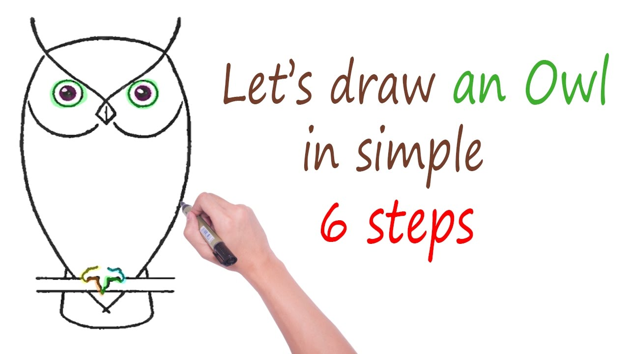1280x720 How To Draw A Realistic Owl Step By Step For Beginners Cute Owl