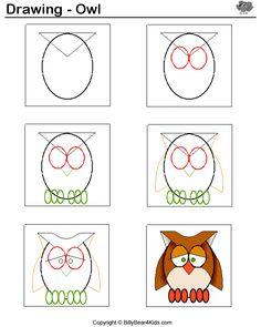 236x295 Step By Step Cartoon Owl Drawing