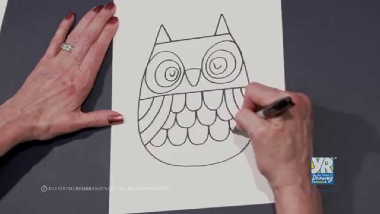 1280x720 Teaching Kids How To Draw How To Draw An Owl