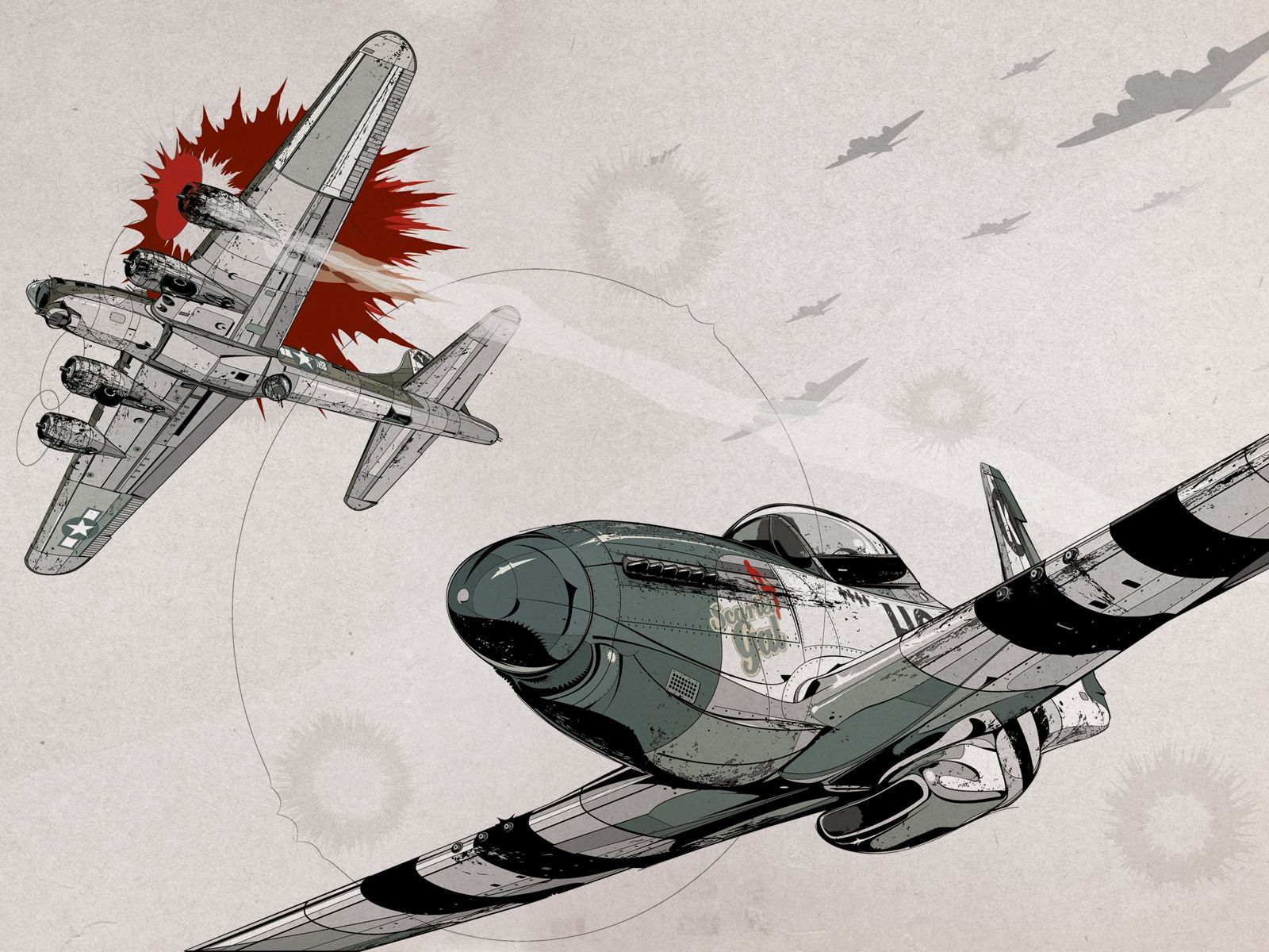 P 51 Mustang Drawing At Getdrawings Free Download