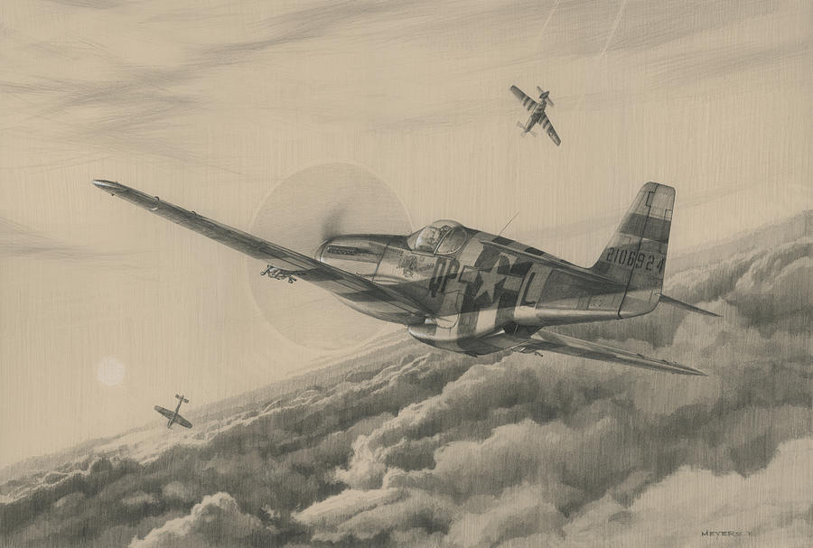 P51 Mustang Drawing at GetDrawings.com | Free for personal use P51 ...
