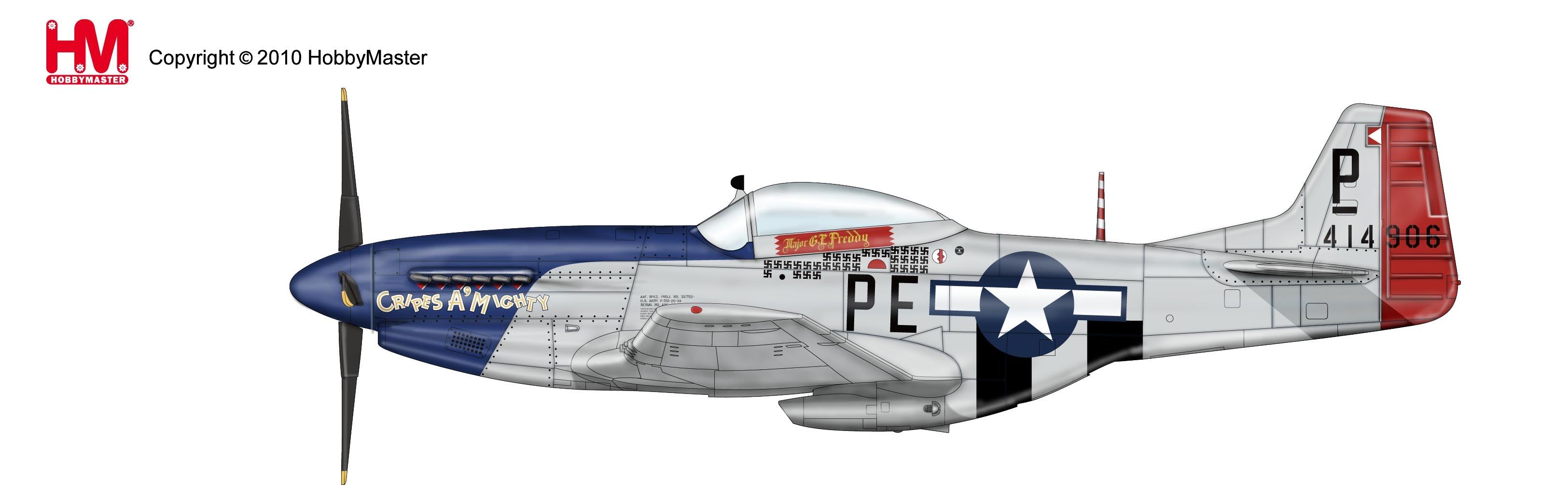 3249x1028 Hobby Master P 51d Mustang Diecast Model Eztoys